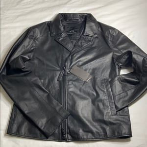 Armani Exchange genuine leather jacket
